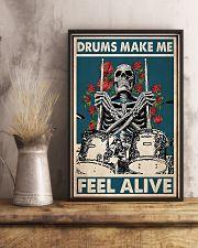Skeleton Drummer Feel Alive poster 11x17 Poster lifestyle-poster-3