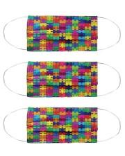 autism maxx puzzle mas Cloth Face Mask - 3 Pack front