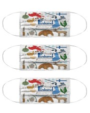 finland map mas  Cloth Face Mask - 3 Pack front
