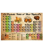 periodic table of beer 36x24 Poster front