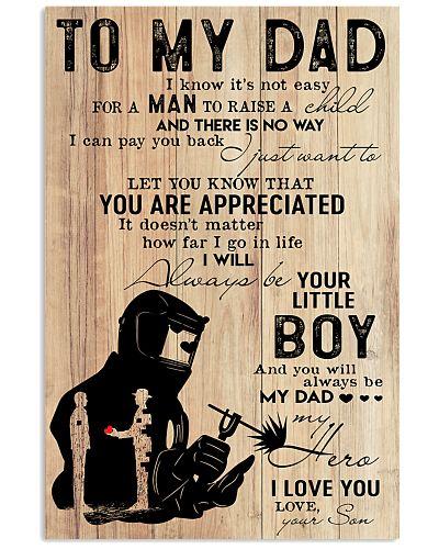 to my dad welder