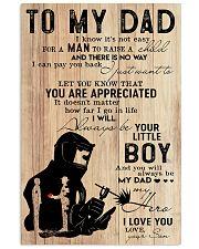 to my dad welder 11x17 Poster front
