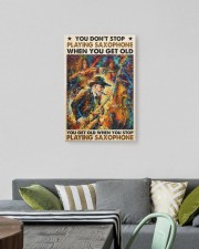 old man saxophone don't stop pt phq-dqh 16x24 Gallery Wrapped Canvas Prints aos-canvas-pgw-16x24-lifestyle-front-16