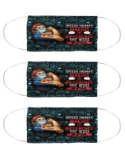 speech therapy making-a difference one mas  Cloth Face Mask - 3 Pack front