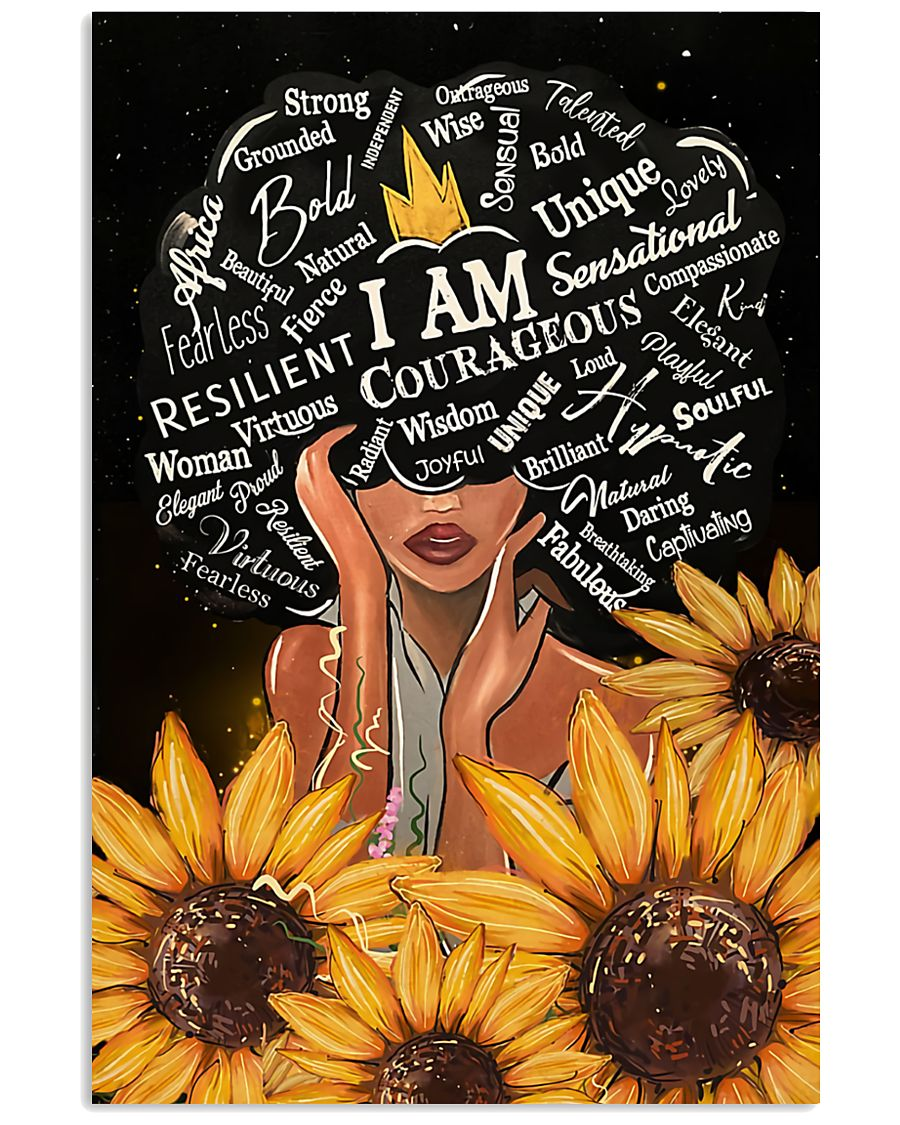 I Am Black sunflower poster  11x17 Poster