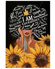 I Am Black sunflower poster  11x17 Poster front