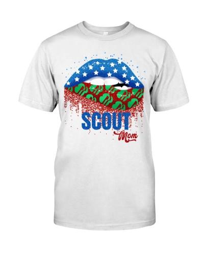 scout mom lip american flag