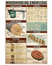 Woodworking Knowledge 24x36 Poster front
