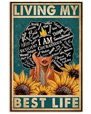 africa retro living best life 11x17 Poster front