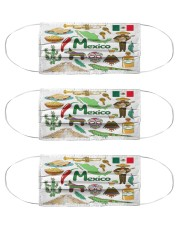 mexico map mas  Cloth Face Mask - 3 Pack front