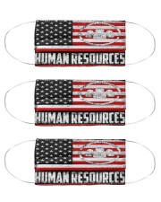 human resources us flag mas Cloth Face Mask - 3 Pack front