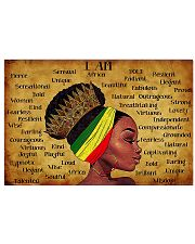 black queen text poster 24x16 Poster front
