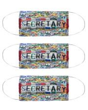 secretary plate mas  Cloth Face Mask - 3 Pack front