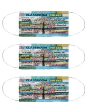 Teacher You Are The Reason I Am Here mas Cloth Face Mask - 3 Pack front