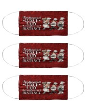 lunch lady dedicated-even-from a distance mas Cloth Face Mask - 3 Pack front