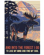 moose into forest 11x17 Poster front