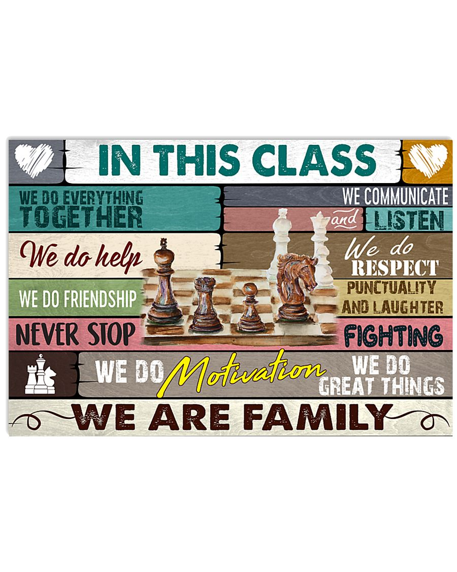 chess we are family 17x11 Poster