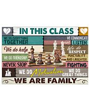 chess we are family 17x11 Poster front