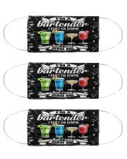 bartender cant fix stupid mas Cloth Face Mask - 3 Pack front