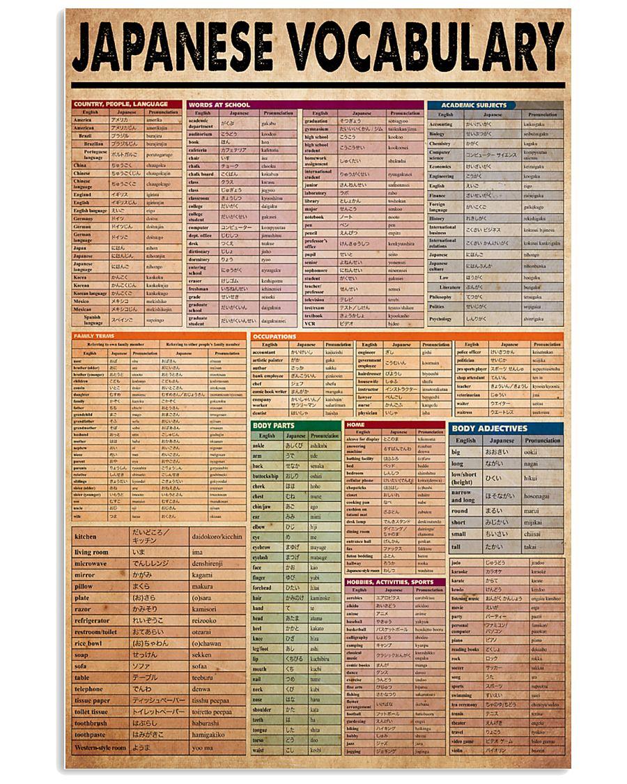 japanese-vocabulary1 11x17 Poster