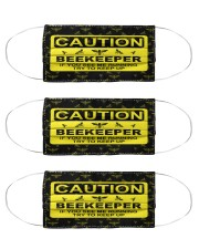 Beekeeper see me running mas Cloth Face Mask - 3 Pack front