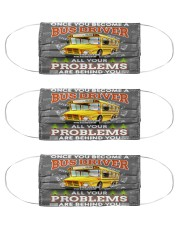 bus driver all problem are behind you mas Cloth Face Mask - 3 Pack front
