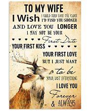 deer my wife 11x17 Poster front