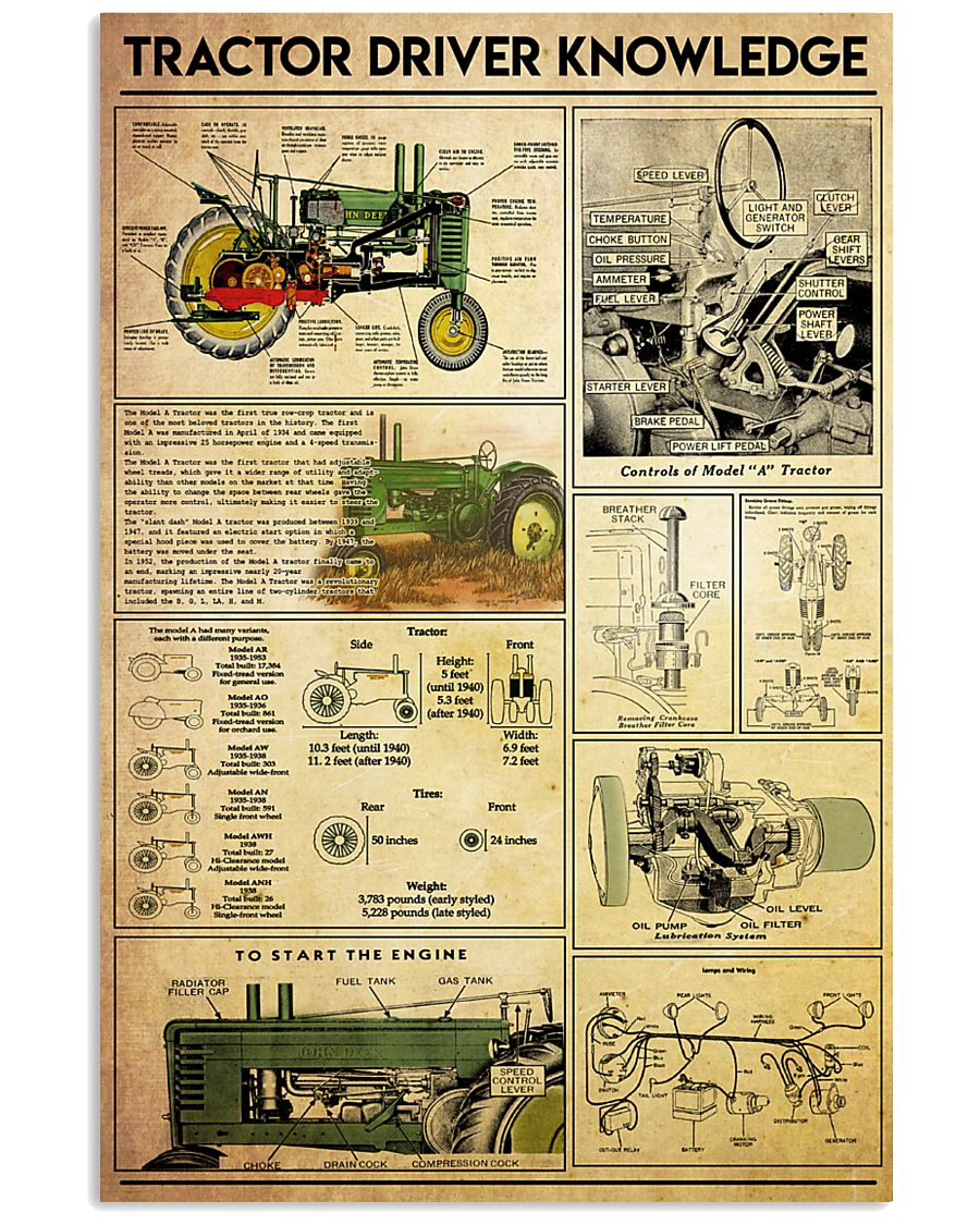 tractor-knowledge-jd 11x17 Poster