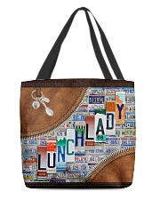 lunch lady tote plate lqt ntv All-over Tote front