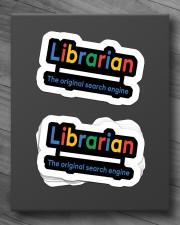 librarian original engine sticker Sticker - 6 pack (Horizontal) aos-sticker-6-pack-horizontal-lifestyle-front-10