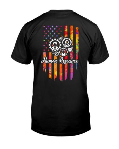 human resource us flag colorful shirt