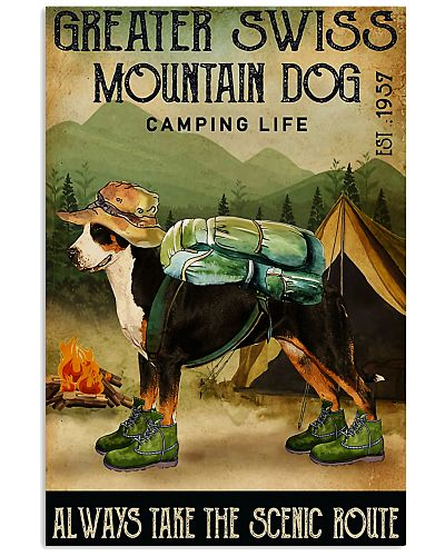 greater swiss mountain dog camping life