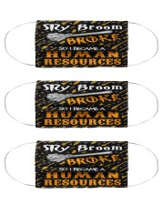 human resources my broom broken mas  Cloth Face Mask - 3 Pack front