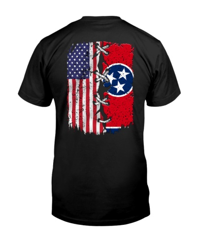 Tennessee and American flag