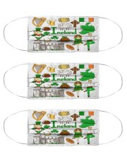 irland map mas  Cloth Face Mask - 3 Pack front