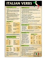 Italian Verbs poster 24x36 Poster front