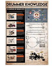 drummer knowledge 11x17 Poster front