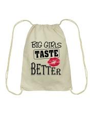 BIG GIRL TASTE BETTER Drawstring Bag thumbnail