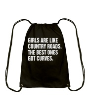 GIRLS ARE LIKE COUNTRY ROADS  Drawstring Bag thumbnail