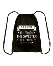 THE THICKER THE THIGHS  Drawstring Bag thumbnail