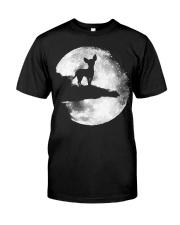 Mens Chihuahua And Moon Halloween T Shirt 3Xl Blac Classic T-Shirt front