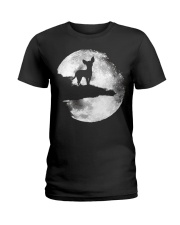 Mens Chihuahua And Moon Halloween T Shirt 3Xl Blac Ladies T-Shirt thumbnail