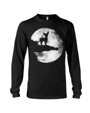 Mens Chihuahua And Moon Halloween T Shirt 3Xl Blac Long Sleeve Tee thumbnail