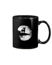 Mens Chihuahua And Moon Halloween T Shirt 3Xl Blac Mug thumbnail