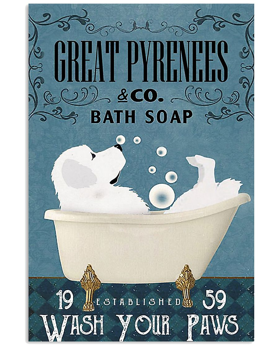 Bath Soap Company Great Pyrenees 11x17 Poster