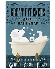 Bath Soap Company Great Pyrenees 11x17 Poster front