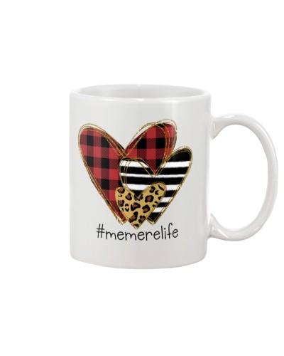 Love  memere life - Buffalo plaid heart Mug