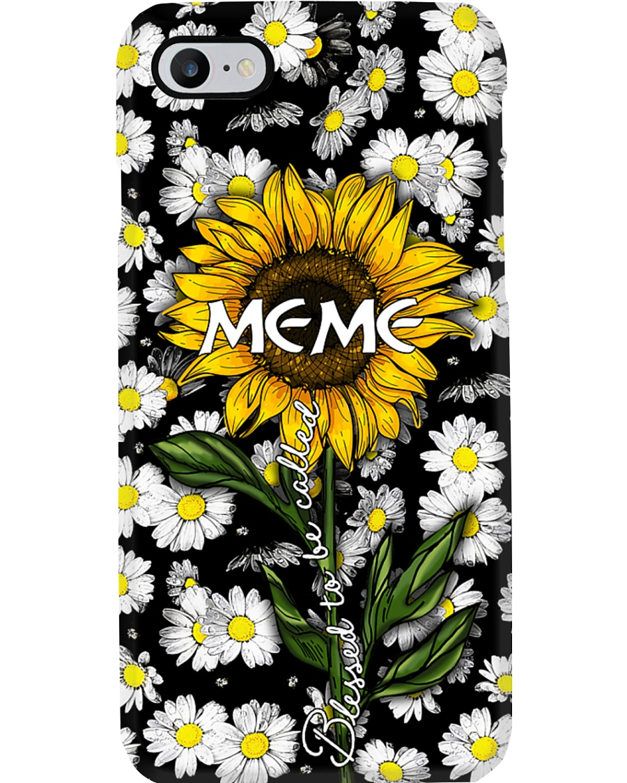 Blessed to be called  meme - Sunflower art Phone Case