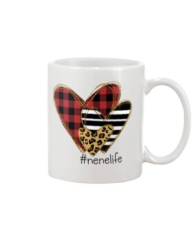 Love  nene life - Buffalo plaid heart Mug