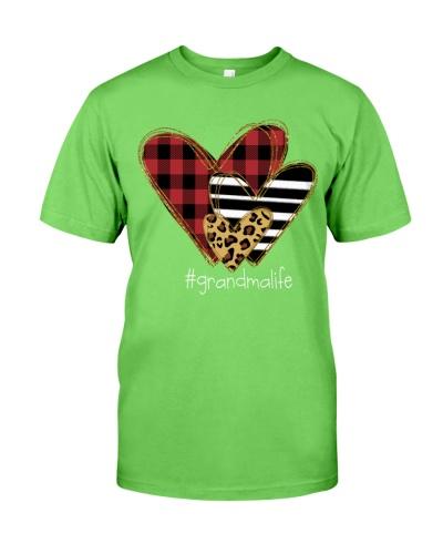 Love grandma life - Buffalo plaid heart